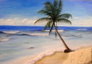 Морской пейзаж масляными красками